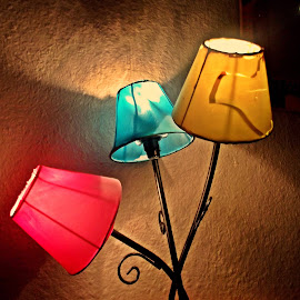 Lamp in the colours of romanian flag by Dobrin Anca - Artistic Objects Other Objects ( flag, church, lamp, romania, day,  )