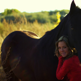 Bailey and the horse by Tia Bigham - Novices Only Portraits & People