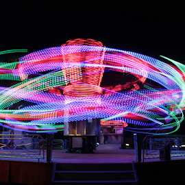 by Stephanie Veronique - Abstract Light Painting ( fun fair light, long exposure )