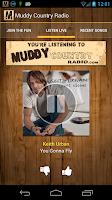 Screenshot of Muddy Country Radio