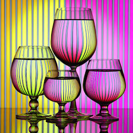 Yellow purple by Rakesh Syal - Artistic Objects Glass ( purple, yellow, color )
