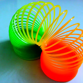 Coiled Coil by Dola Soma Sekharam - Artistic Objects Toys ( colourful, toy, art, coil, spring )