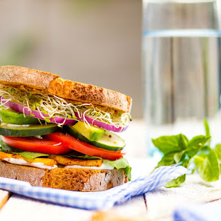 Ultimate Veggie Sandwich with Smokey Tofu & Lemon Basil Mayo