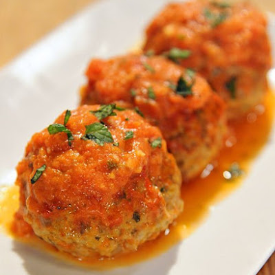 Lamb Meatballs with Tomato-Mint Cream