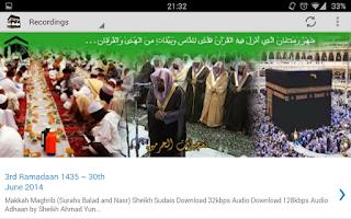 Screenshot of Makkah & Madinah live