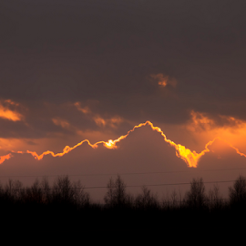 Mountains Made Of Fire by Joe Kirby - Landscapes Cloud Formations ( mountains, red, sky, mountain, red sky, silhouette, sunset, silhouettes, cloud mountains )