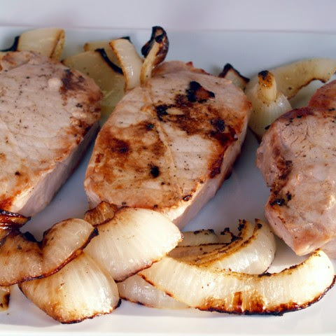 Broiled Pork Chops and Onions