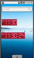 Screenshot of Digital Clock Red