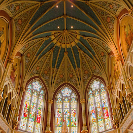 Cathedral of St. John the Baptist by Jennifer Tsang - Buildings & Architecture Places of Worship ( savannah, cathedral of st. john the baptist, georgia, cathedral, stained glass )