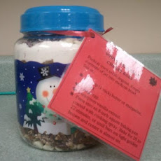 White Christmas Cherry Bars in a Jar