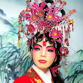 Chinese Operatic Bride Head Gear by Alan Chew - Artistic Objects Clothing & Accessories ( colorful, mood factory, vibrant, happiness, January, moods, emotions, inspiration )