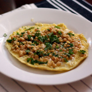 Omelet with White Beans and Green Onions