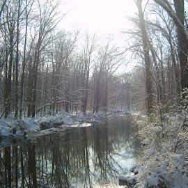 Clear Creek After Snow by Marcia Taylor - Novices Only Landscapes (  )