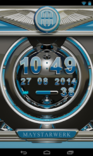 Digi Clock Widget Lightblue St - screenshot