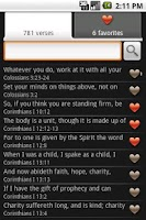 Screenshot of Bible Verses