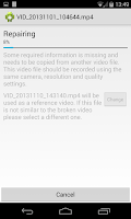 Screenshot of MP4 Video Repair (Beta)