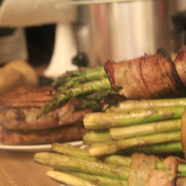 Steak and Asparagus Dinner  by Katherine Turner - Food & Drink Meats & Cheeses
