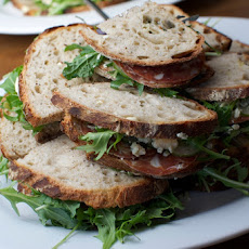 Salami and Blue Cheese Sandwich