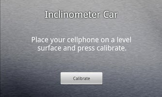 Screenshot of GForce and Inclinometer Car