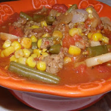 Ground Turkey and Veggie Soup