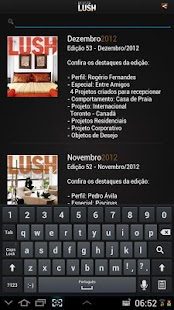 Revista Lush - screenshot