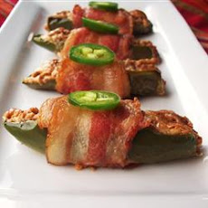 Bacon-Wrapped Peanut Butter Jalapenos
