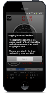 Stopping Distance Calculator - screenshot