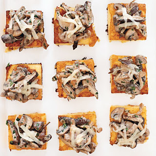 Wild Mushroom Ragoût on Crispy Polenta with Comte Cheese