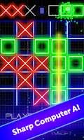 Screenshot of Tic Tac Toe Glow by TMSOFT