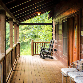 The Porch by Shawn Klawitter - Buildings & Architecture Other Exteriors ( cabin, building, mountain, porch )