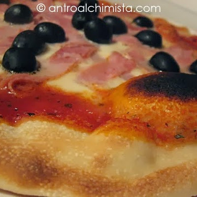 Pre-ferment Method Pizza Cooked on a Pizza Stone