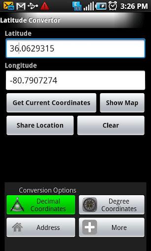 Longitude Latitude Convertor