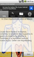 Screenshot of Salud y Enfermedad
