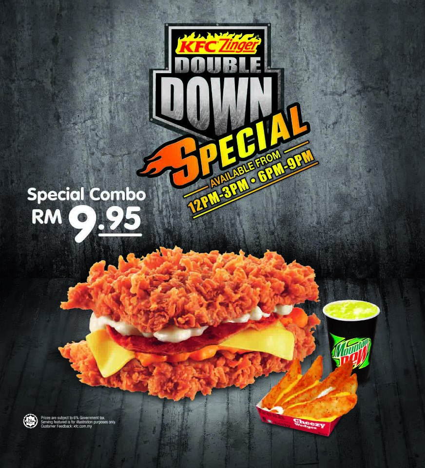 Kfc Zinger Double Down Special Malaysia Food Restaurant Reviews