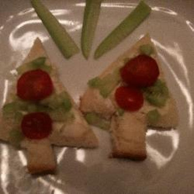 Christmas Tree Sandwiches