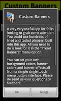 Screenshot of Custom Banners