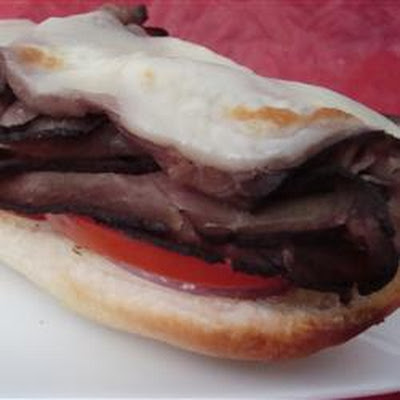 Open-Faced Broiled Roast Beef Sandwich