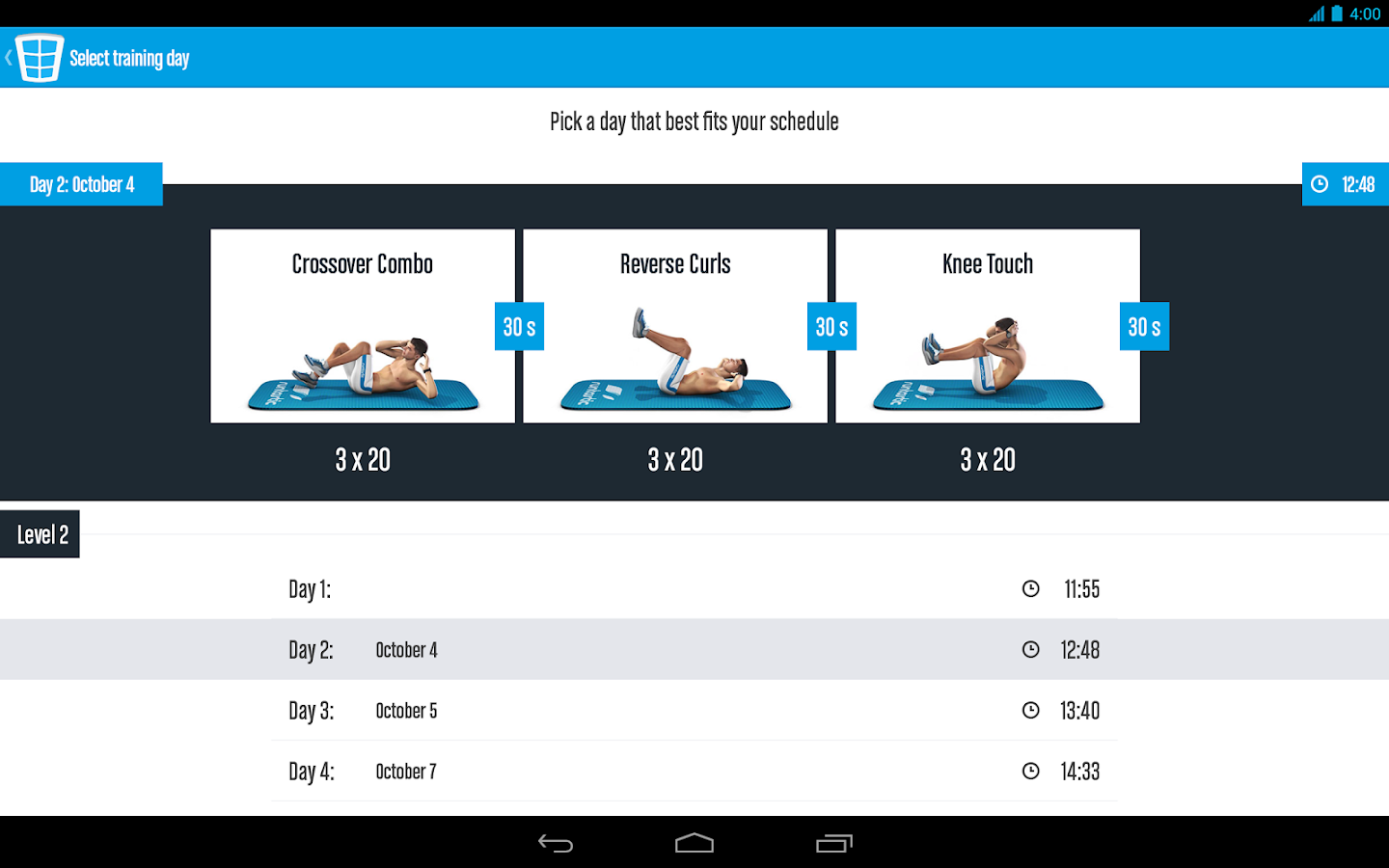 Runtastic Six Pack Ab Workout Screenshot 10