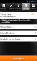 Screenshot of Cliente Optimus