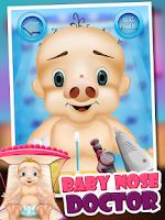 Screenshot of Baby Nose Doctor - Kids Game