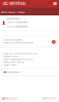 Screenshot of Generali Panamá