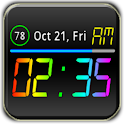 Rainbow Battery Clock (HD32)