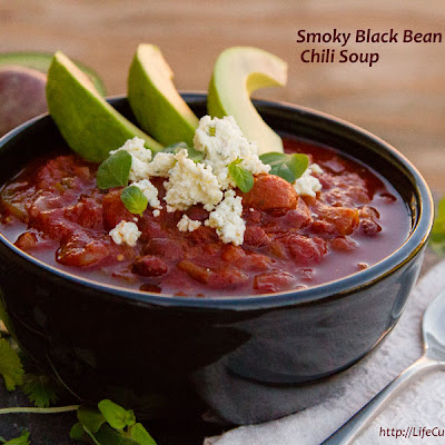 Smoky Black Bean Chili Soup