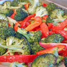 Roasted Broccoli and Red Pepper