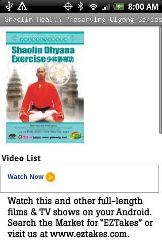 Health Qigong: Dhyana Exercise