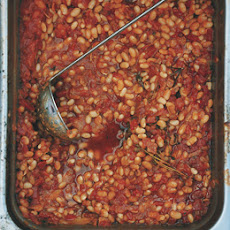 Slow-Cooked Tomato and Herb White Beans
