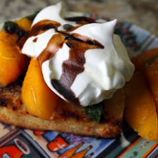 Grilled Pound Cake with Balsamic Peaches