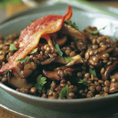 Sautéed Bacon Mushrooms, and Lentils Recipe