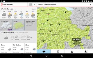 Screenshot of MeteoSwiss