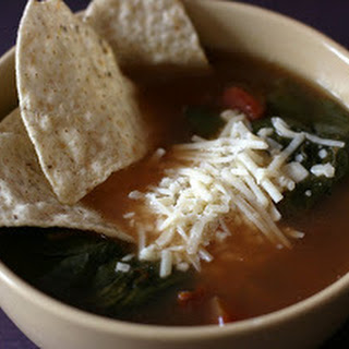 Vegetarian Tortilla Soup Slow Cooker